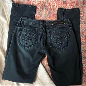 rock revival | raquel straight leg black jeans 30
